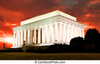 The Lincoln memorial in Washington DC USA