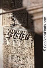 The light in Alhambra - Amazing detail in Alhambra, Spain....