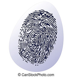 thumbprint on egg