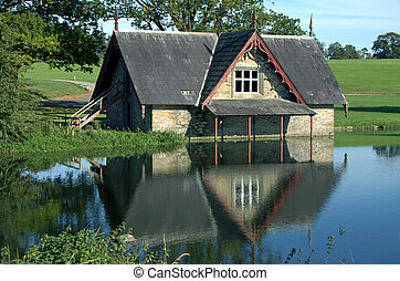 boat house at carton house golf course in kildare ireland