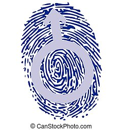 thumbprint and male sign