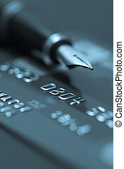 Finance - Image of money, credit cards, checks and coins