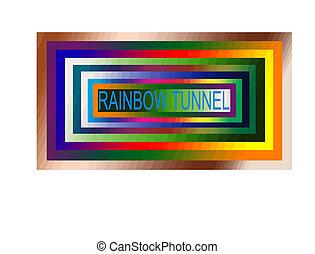 rainbow tunnel - astract rainbow,vector illustration