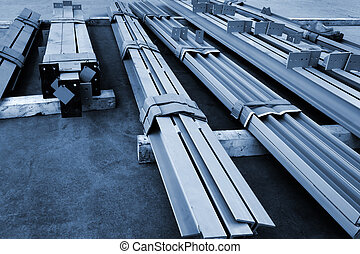 new metal beams - new welded metal beams on modern plant