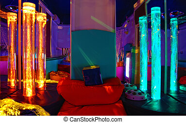 The light sensory room. - This photograph is taken in a...