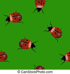 Background with ladybugs