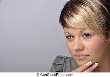 beautiful 20 something year old female portrait - photo...