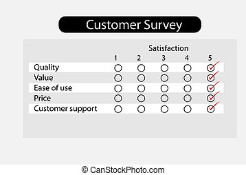 Product survey - Customer questionnaire survey about product