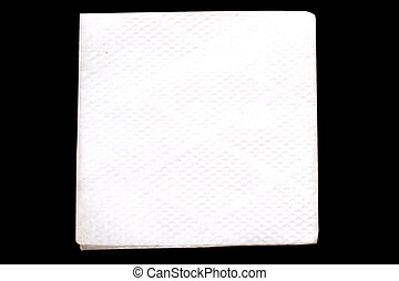 napkin isolated on black background