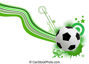 soccer background - soccer design element on white, vector...