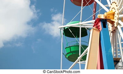 Ferris Wheel - cabin of Colorful ferris wheel
