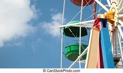 Ferris Wheel - cabin of Colorful ferris wheel