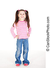 Cute little gir - Picture of the cute little girl in blue...
