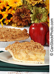 thanksgiving apple crumble - closeup thanksgiving apple...