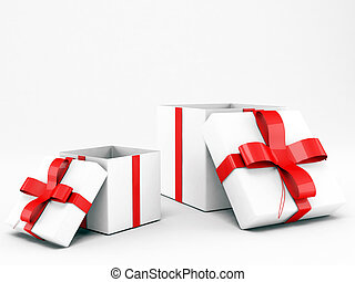 gifts isolated on white background
