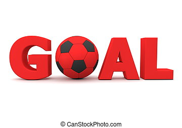 Football Goal Red