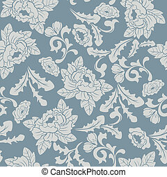 Abstract seamless floral pattern - Illustration vector
