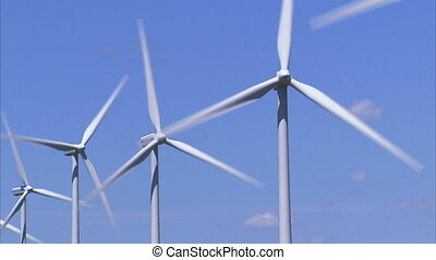 Wind Turbines - Row of wind turbines