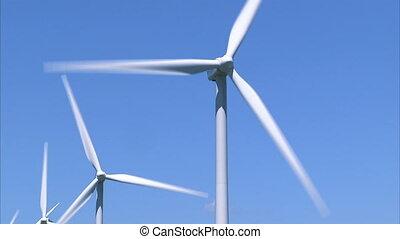 Wind Turbines - Medium shot of wind turbines
