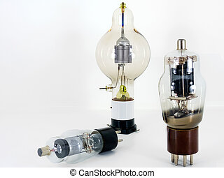 Vintage style light bulb samples. - Three samples of vintage...