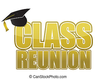 class reunion Graduation cap isolated on white background