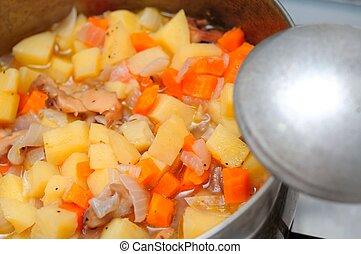 Cooked potato delicacy