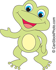 Frog vector - Frog isolated ob white background. Vector...