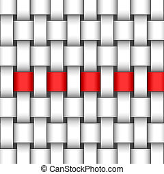 abstract interweave background  with a red ribbon