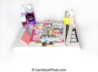 set for nail design and manicure