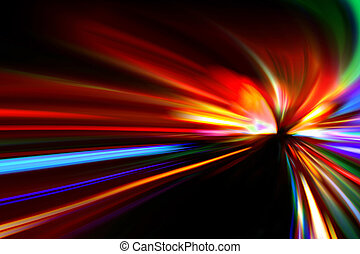 abstract night highway