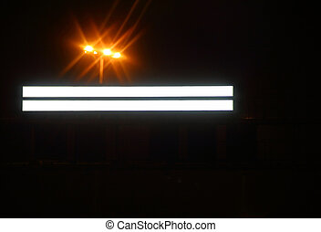 billboard in the city at night
