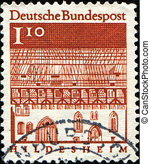 Trinity Hospital, Hildesheim - GERMANY- CIRCA 1964: A stamp...