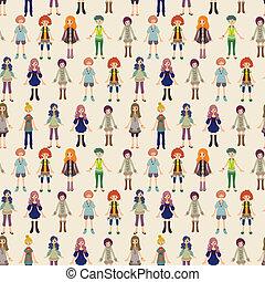 seamless lady pattern
