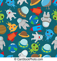 seamless space pattern  - seamless space pattern