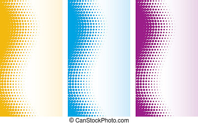 vector abstract halftone backgrounds