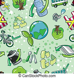 seamless eco pattern