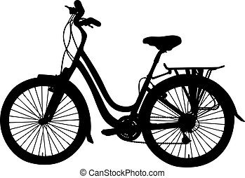 vector bicycle - detailed bicycle silhouette, vector...