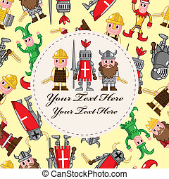 medieval people card  - medieval people card