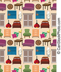 seamless furniture pattern  - seamless furniture pattern