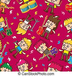 seamless rock band pattern