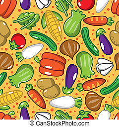 seamless vegetable pattern  - seamless vegetable pattern