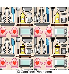seamless baking pattern  - seamless baking pattern