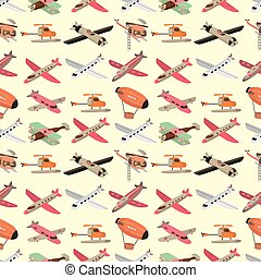 seamless airplane pattern  - seamless airplane pattern