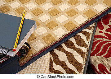 home textile decoration - samples of fabrics for home...