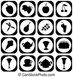 set with different icons