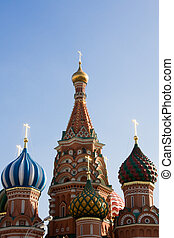 Russia; Moscow; Red Square; St Basils Cathedral