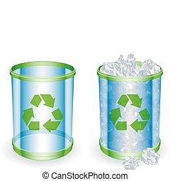 déchets ménagers, boîtes