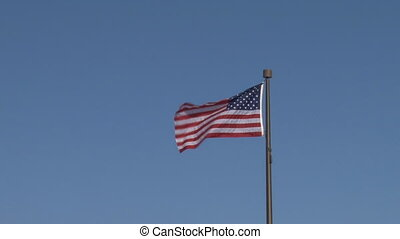 Flag: United States - zoom in - Zoom in to the American flag...