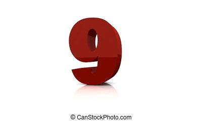 Digital countdown.