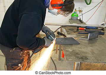 metal worker grinder